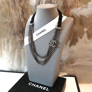 Chanel Pearl CC Multi Chain Headband / Necklace